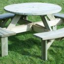 Hutton Supported Round Picnic Table