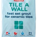Evo-Stik Fast Set Waterproof Tile Grout White 1.5kg