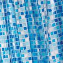 Croydex Blue Mosaic PVC Shower Curtain 1.8 x 1.8mtr