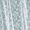 Silver Mosaic PVC Shower Curtain 1.8 x 1.8mtr