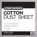 Prodec Contractor Cotton Twill Dust Sheet 3.6 x 2.7mtr