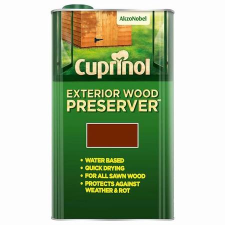 Cuprinol Exterior Wood Preserver Chestnut 5ltr