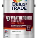 Dulux Trade Weathershield Gloss B/White 1ltr