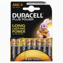 Duracell Plus AAA Batteries (8)