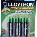Lloytron Accu DIGITAL Rechargeable Batteries 1300mAh AA (4)