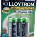 Lloytron Accu ULTRA Rechargeable Batteries 3000mAh C (2)