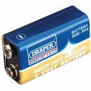 Draper Heavy Duty Alkaline Battery 9v