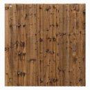 Weston Featheredge Fence Panel – Dark Brown 1.83 x 1.8mtr