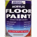 Bedec Acrylic Floor Paint Battleship Grey 1ltr
