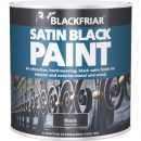 Blackfriars Satin Black Paint 1ltr