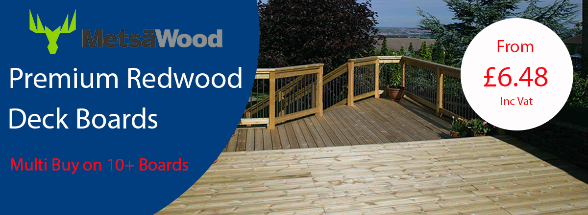 Premium Softwood Deck Boards, Multi Buy Available