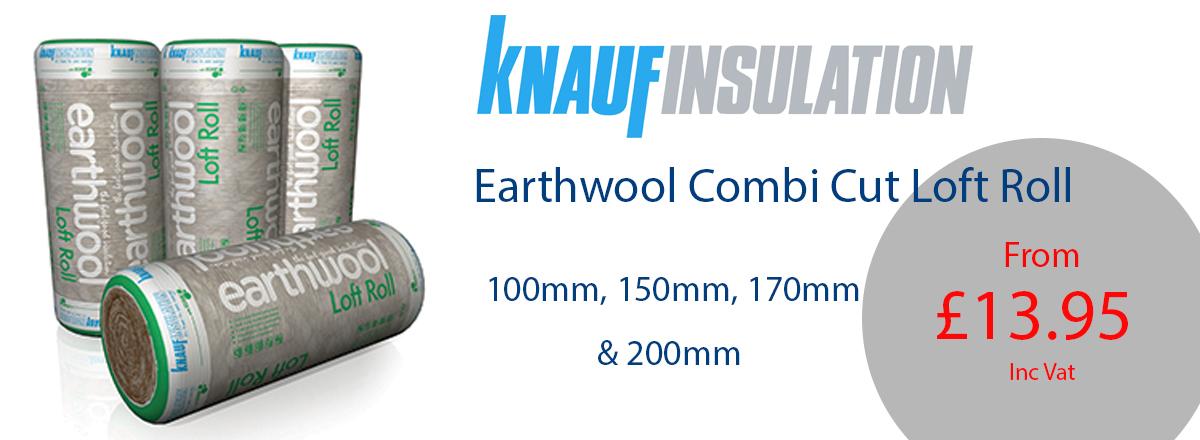 Knauf Earthwool Combi Cut Loft Roll - From £13.95 a roll